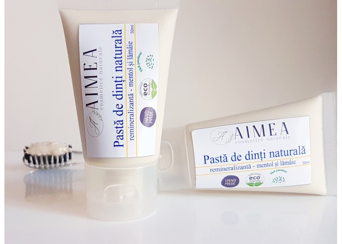 Pasta de dinti naturala - remineralizanta cu mentol
