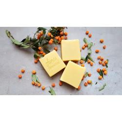 Mimoza, galbenele si catina - sapun terapeutic pentru piele uscata, descuamanta, eczeme sau iritatii